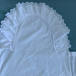 European Baby Pillow cotton/ribbon